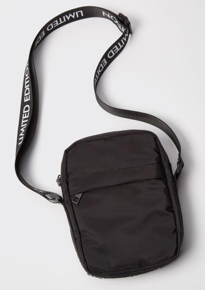 black limited edition nylon crossbody bag - Main Image