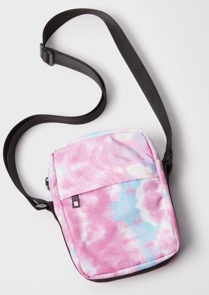 pink tie dye nylon crossbody bag - Main Image