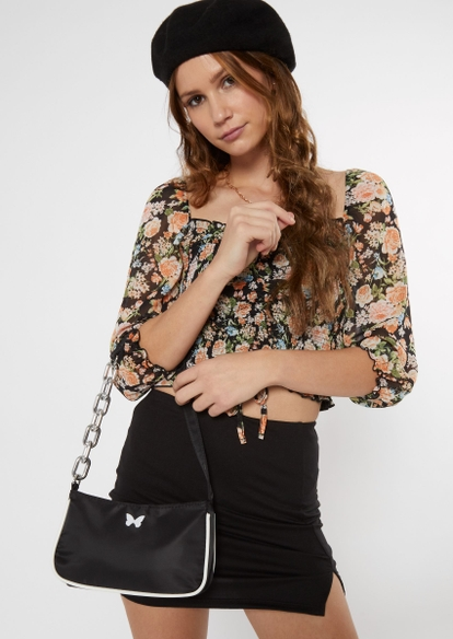 black butterfly icon chain strap bag - Main Image