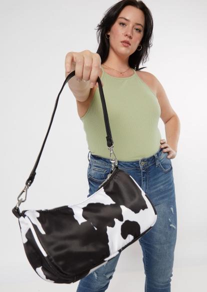 cow print baguette bag - Main Image