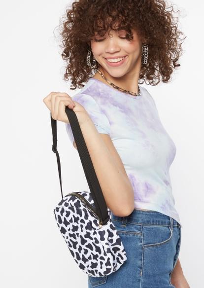 cow print nylon bag - Main Image