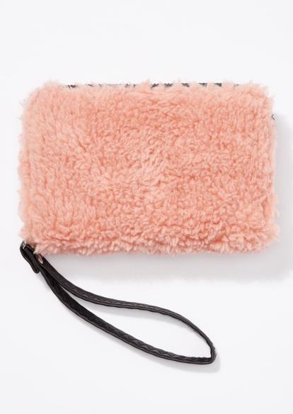 pink sherpa wallet - Main Image