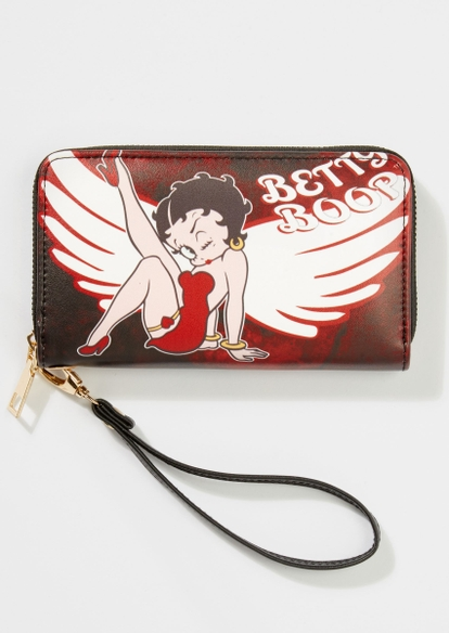 brown betty boop fire angel wallet - Main Image