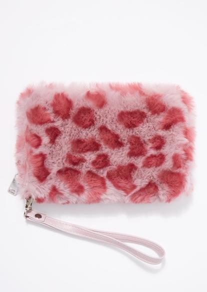 pink leopard print wallet - Main Image