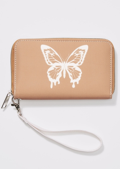 neutral butterfly drip wallet - Main Image