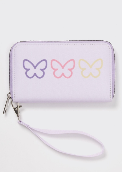 lavender butterfly print wallet - Main Image