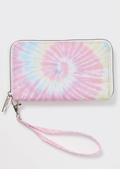 pink swirl tie dye wallet - Main Image