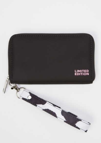 black limited edition cow print wallet - Main Image