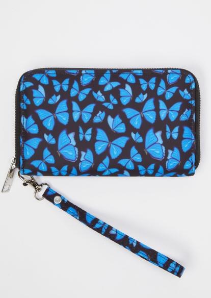 black y2k butterfly print wallet - Main Image
