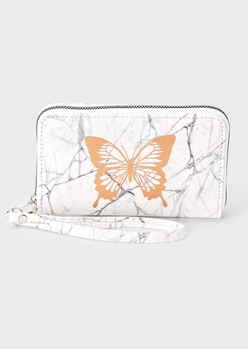 marbled butterfly print wallet - Main Image