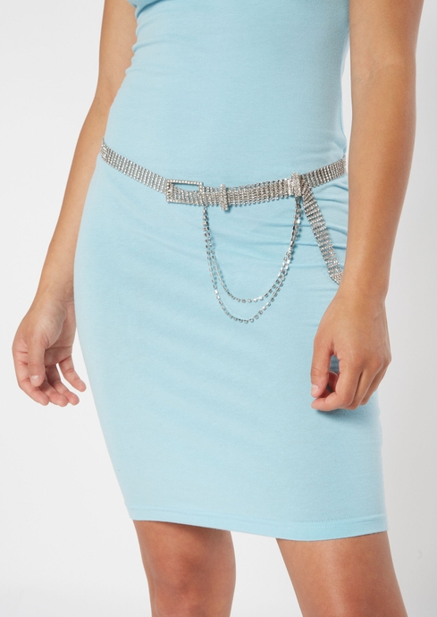 DIAMANTE BELT WITH CHAIN placeholder image