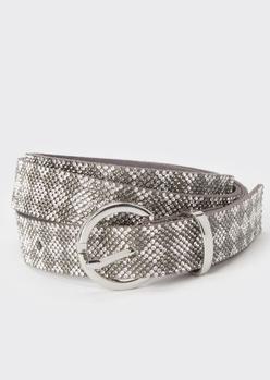 silver rhinestone diamond belt - Main Image