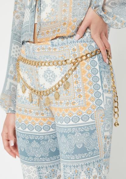 gold sun chain belt - Main Image