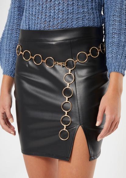 gold hoop chain belt - Main Image