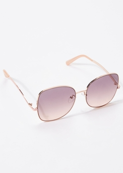 mauve oversized square sunglasses - Main Image