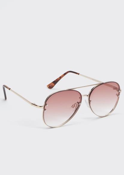 pink aviator sunglasses - Main Image