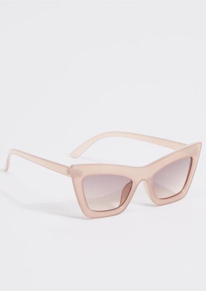 milky taupe cat eye sunglasses - Main Image