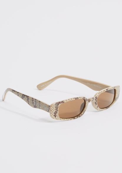 snakeskin print micro sunglasses - Main Image