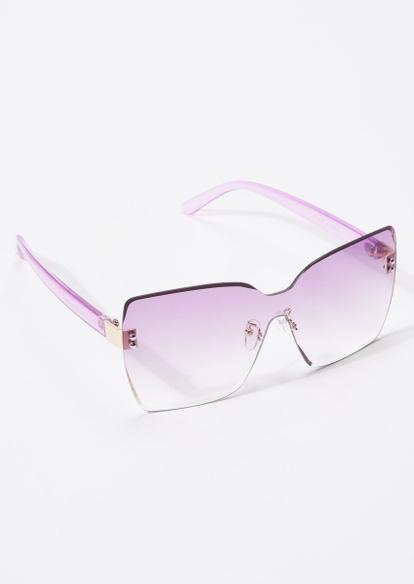 lilac oversized square sunglasses - Main Image