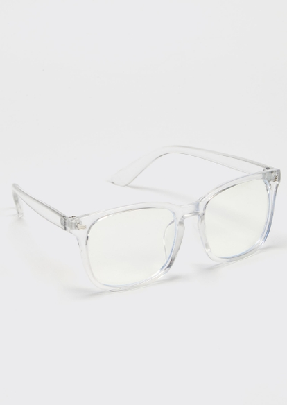 clear square blue light glasses - Main Image