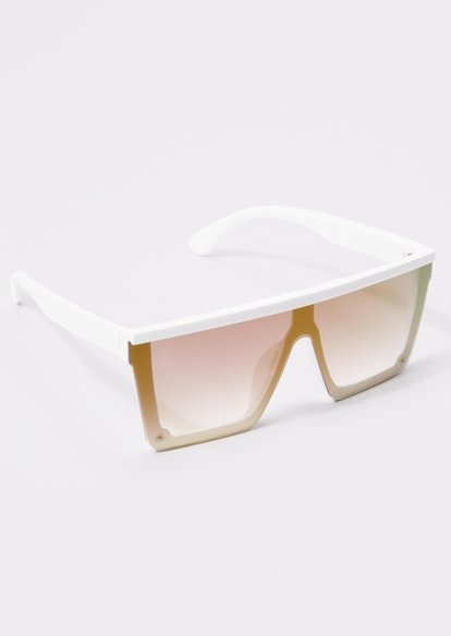 white shield sunglasses - Main Image