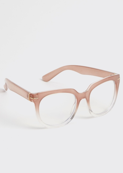 pink ombre square blue light glasses - Main Image