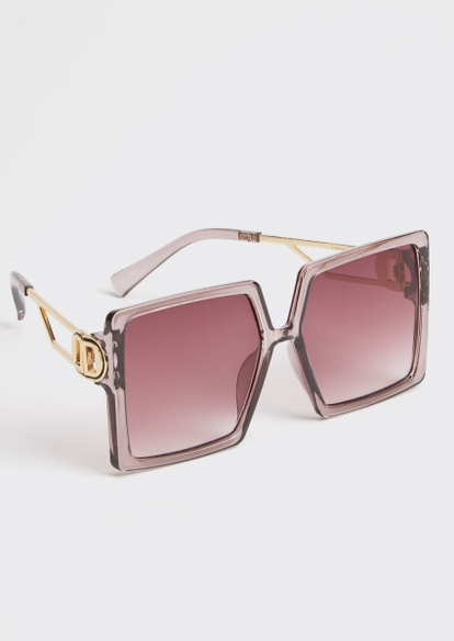 lavender oversized square sunglasses - Main Image