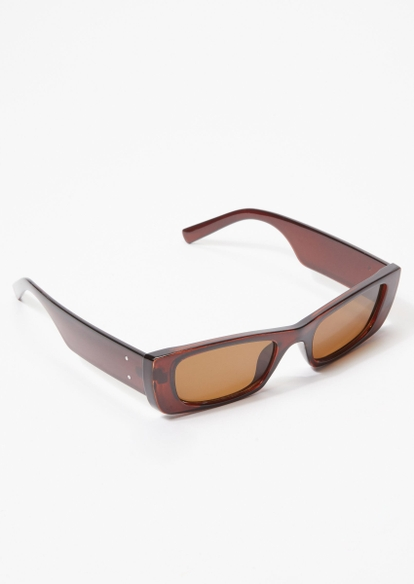 brown mini square sunglasses - Main Image