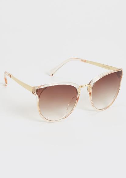tan cat eye sunglasses - Main Image