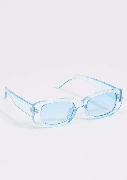 blue acrylic square sunglasses - Main Image