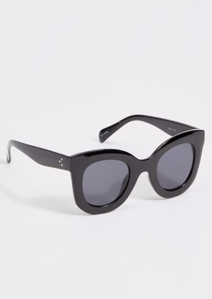 black round frame cat eye sunglasses - Main Image