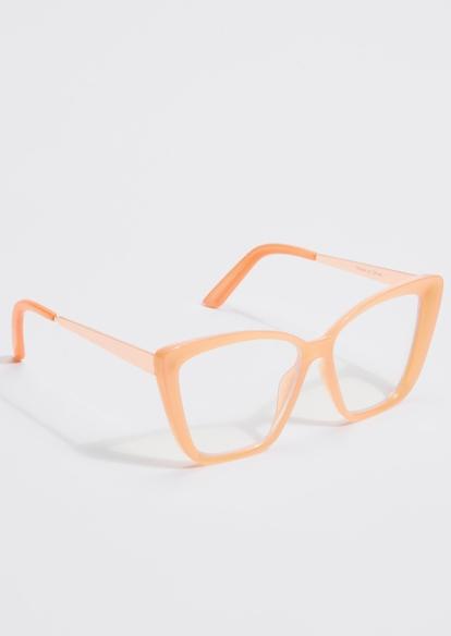 coral blue light cat eye glasses - Main Image