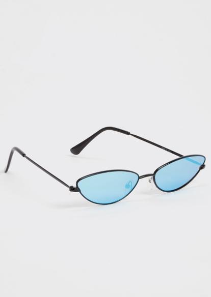 blue micro mirror sunglasses - Main Image