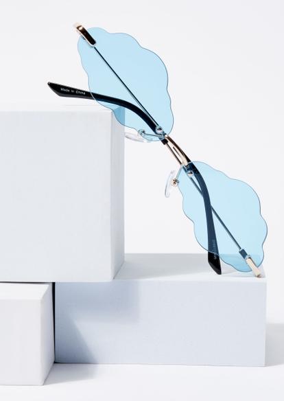 blue cloud lens sunglasses - Main Image