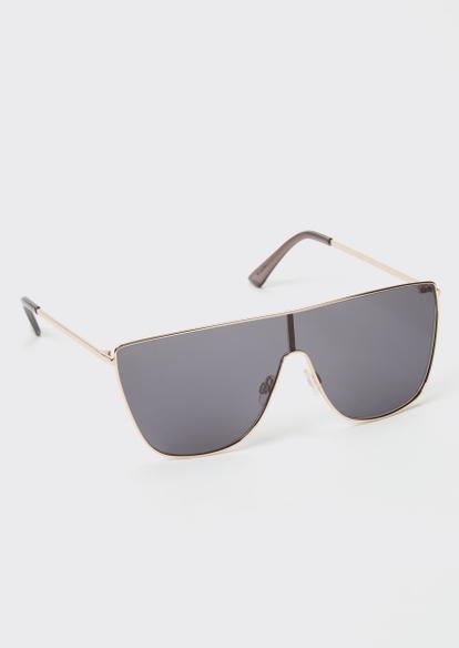 gold shield sunglasses - Main Image