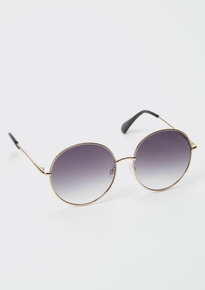 gray ombre round sunglasses - Main Image