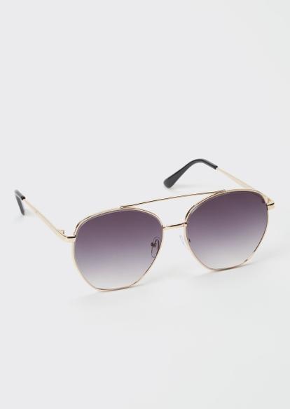 gray ombre aviator sunglasses - Main Image