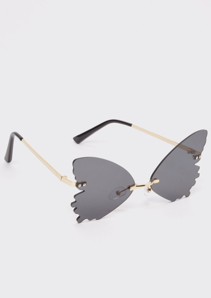 black butterfly wing sunglasses - Main Image