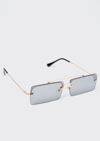 black y2k square lense sunglasses - Main Image