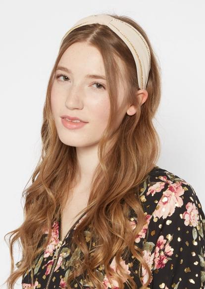 light pink sparkle knot headband - Main Image