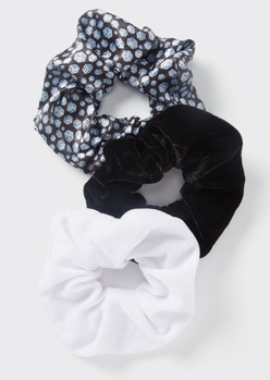 3-pack dice print scrunchie set - Main Image