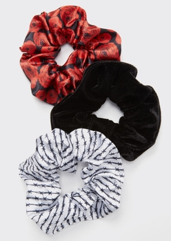 3-pack rose wire velour scrunchie set - Main Image