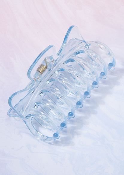 blue acrylic claw hair clip - Main Image