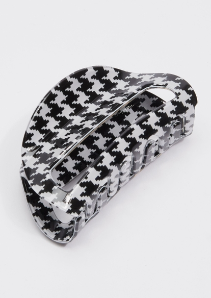 black houndstooth claw clip - Main Image