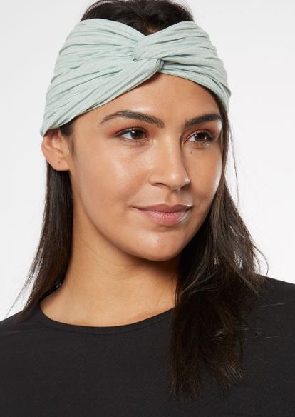 sage green oversized wrap headband - Main Image