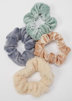 3-pack fall fabrics scrunchie set - Main Image