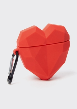 red heart wireless earbud case - Main Image