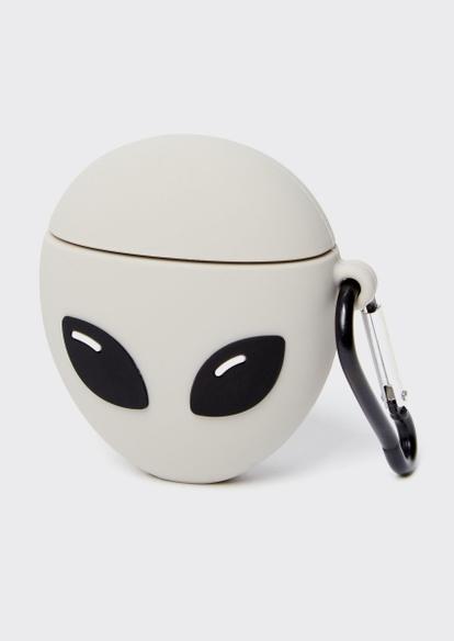 gray alien wireless earbud case - Main Image