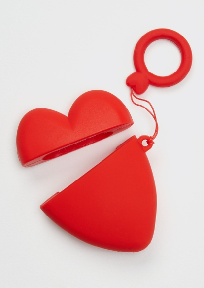 heart silicone wireless earbud travel case cover - Main Image