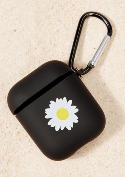 black daisy graphic wireless earbud case - Main Image